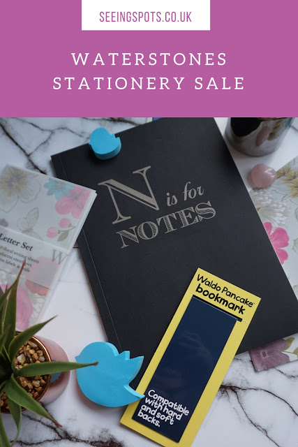 Waterstones Stationery Sale, N is for Notes, Note book, Letter Writing Set, Book Marks
