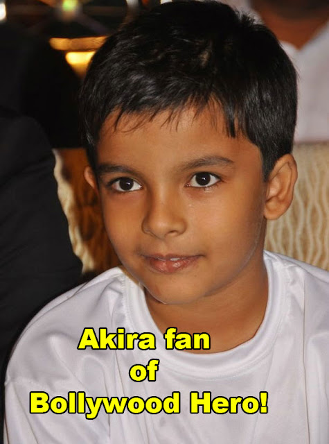 Pawan's son Akira fan of Bollywood Hero!