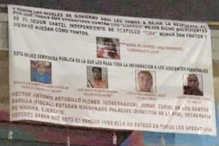 """""""Todos sus operativos nunca dan frutos"""", Tapizan Acapulco con narcomantas contra del Cartel Independiente de Acapulco"""