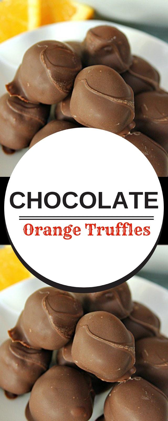 Chocolate Orange Truffles #christmas #chocolate