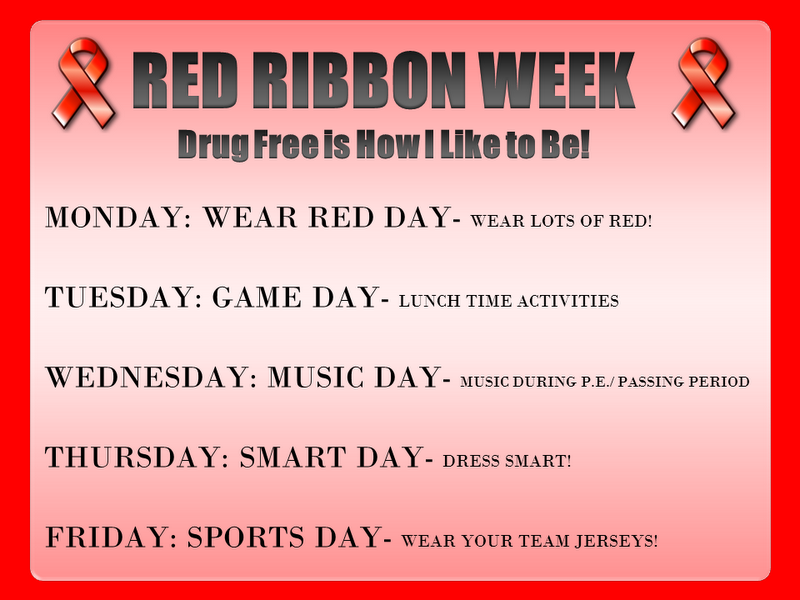 Things Are Red Red Ribbon Week