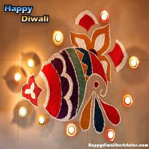 Simple Fish Small Rangoli Design For Diwali