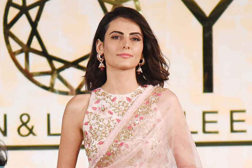 Mandana Karimi walks The Runway at Joya Fashion Show In Mumbai