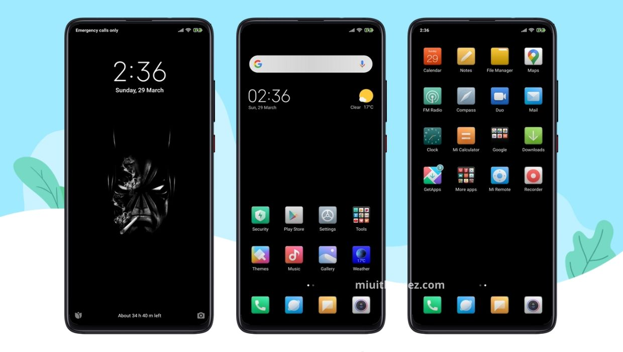 Black Android MIUI 11 Theme