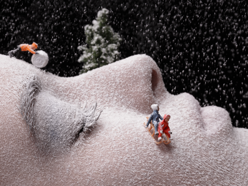 Playing in the snow (zoom) ©Juan Sanchez Castillo - Making it up - Fotografía | Photography