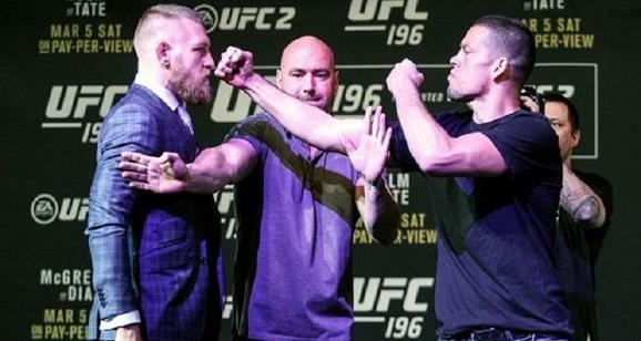 UFC 196 di MGM Grand Arena Las Vegas : Conor McGregor Meremehkan Nate Diaz