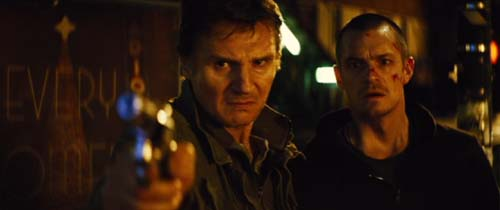 Liam Neeson and Joel Kinnamon in Run All Night