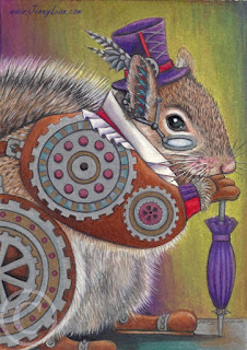 WIP steampunk squirrel