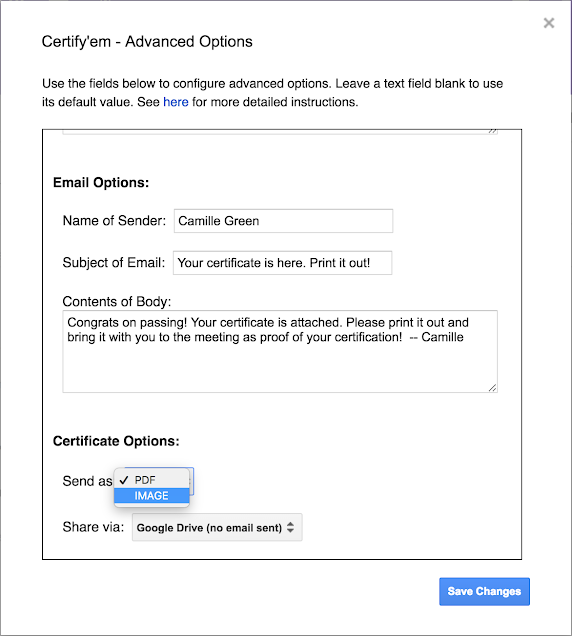 Certify'em Has New Options for Automatically Issuing Certificates from Google Forms