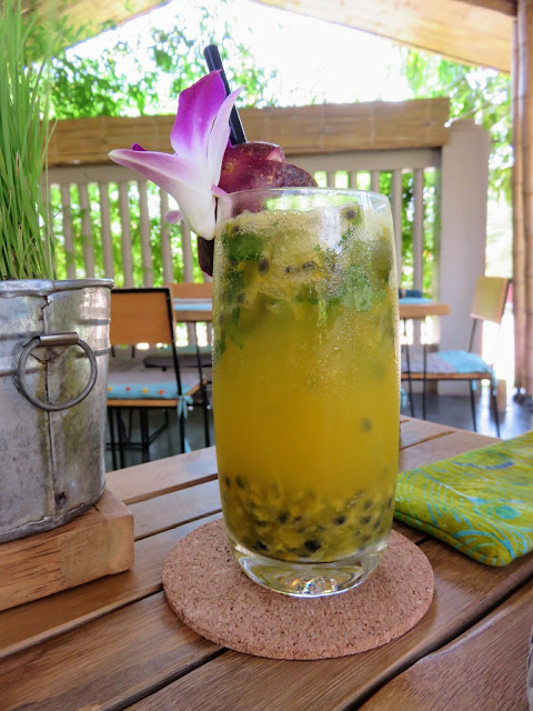 Passionfruit and mint soda at Spoons Cafe in Siem Reap Cambodia