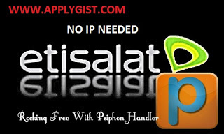 Settings for latest Etisalat Unlimited browsing using Psiohon