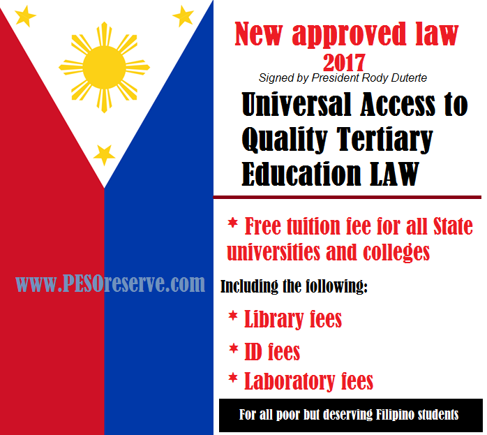 """Free Tuition Fee law""  in the Philippines"