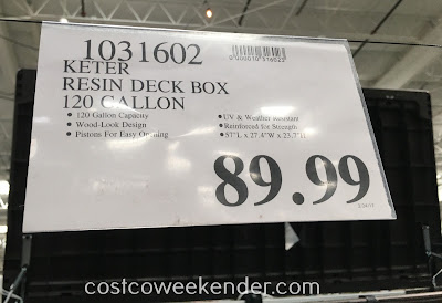 Deal for the Keter Resin Deck Box (120 gallon) at Costco