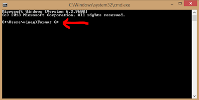 how to format pendrive using cmd