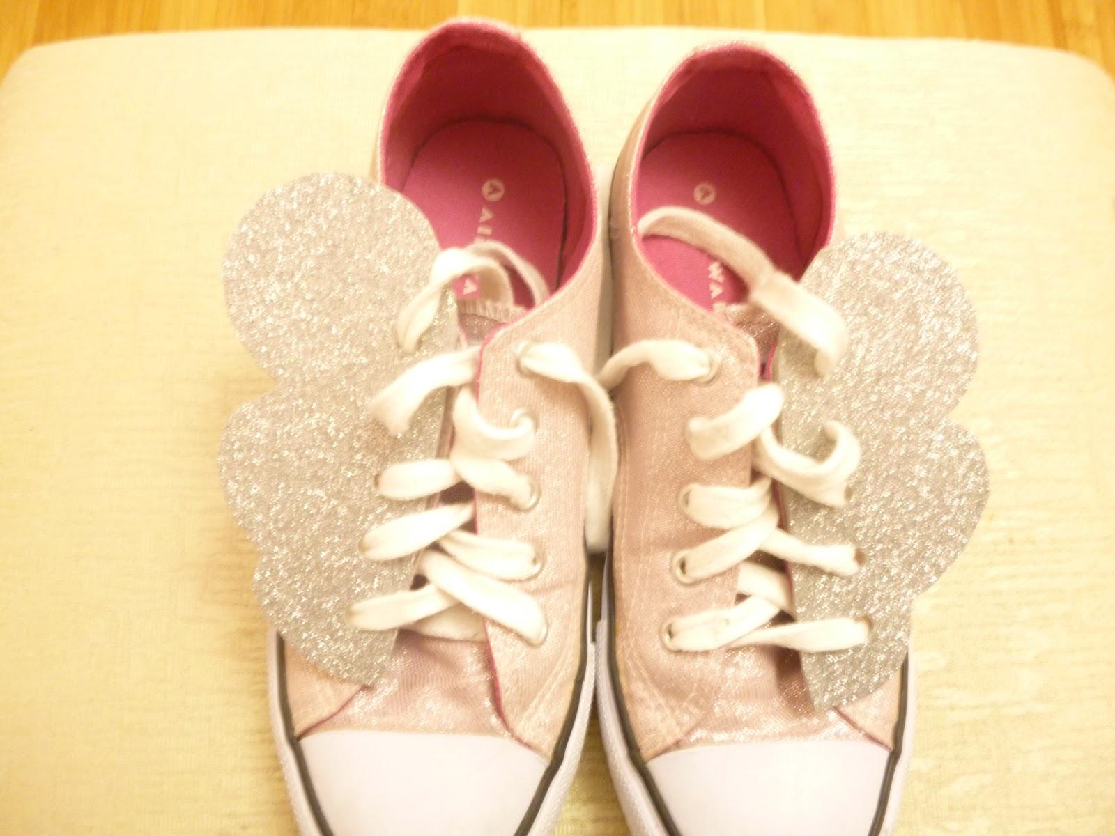 Magic Pearl Heart Diy Fairy Kei Winged Sneakers
