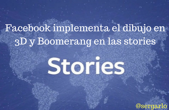 Facebook, stories, 3D, Boomerang, dibujo