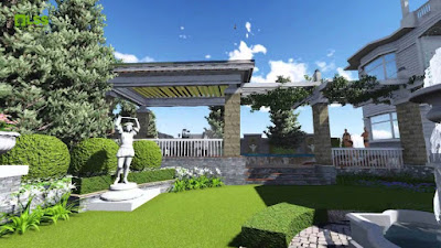 Thiết kế mô phỏng vườn châu Âu dự án Grandeur Palace Giảng Võ