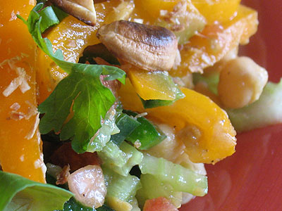 Chickpea Salad with Tamarind Dressing