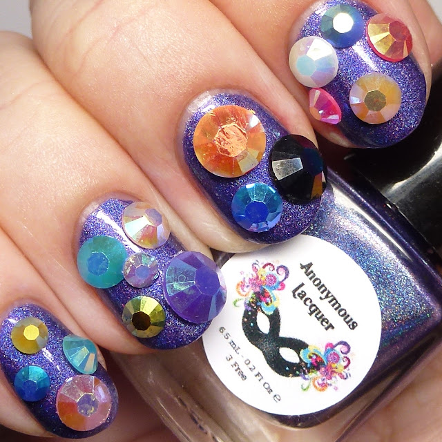 Anonymous Lacquer Awesome Sauce Indie Box Mermani Golden Mermaid nail art