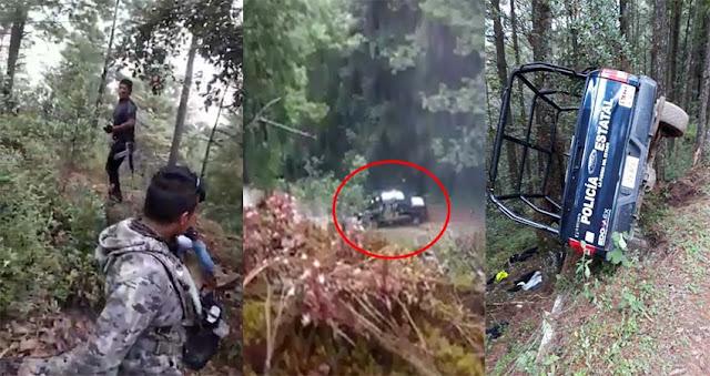 Video: IDEO: Fue una lluvia de balas no tuvieron tiempo de defenderse: Sicarios grabaron el momento en que emboscan y acribillan a 4 policías.