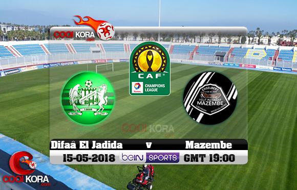 مشاهدة مباراة الدفاع الحسني الجديدي ومازيمبي اليوم 15-5-2018 دوري أبطال أفريقيا