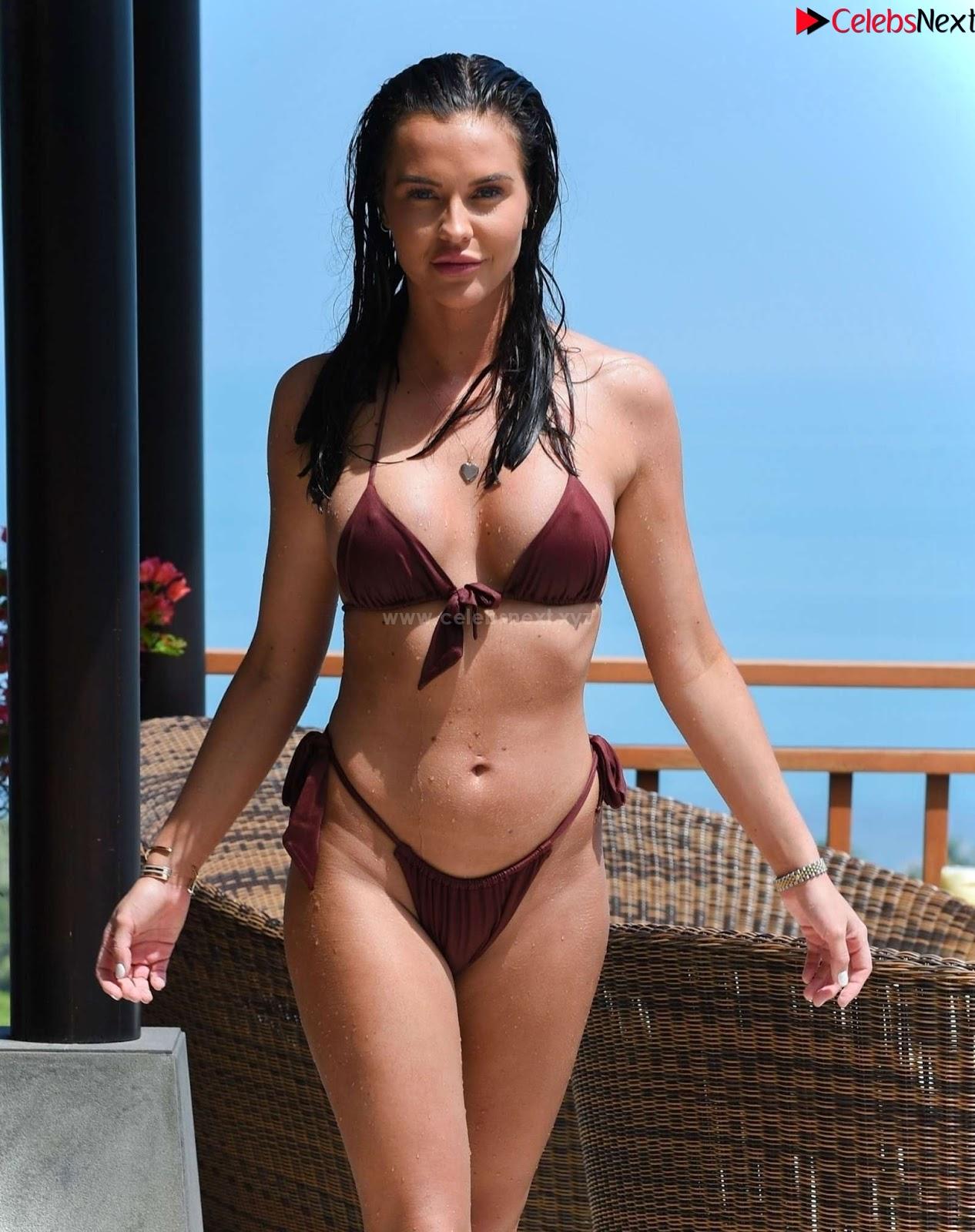 Shelby Tribble Ultra hot dusky babe tiny wet bikini thong wow Boobs pussy ass amazing