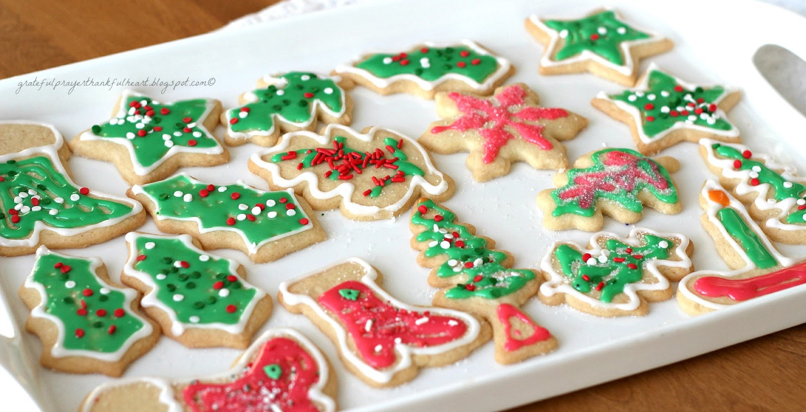 Frosted Sugar Cookies | Grateful Prayer | Thankful Heart