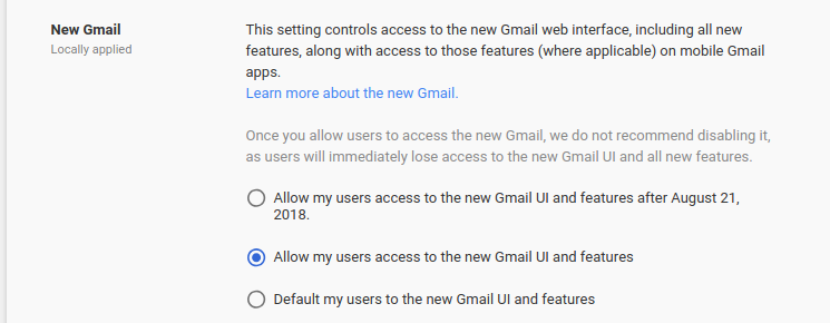 G Suite Updates Blog: New Gmail now generally available