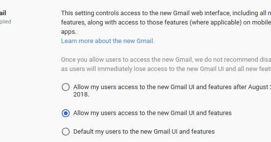make my gmail default