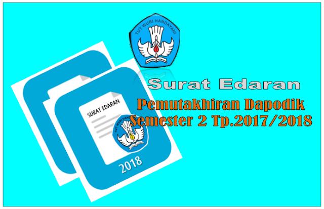 Download Surat Edaran Pemutakhiran aplikasi Dapodik 2017/2018