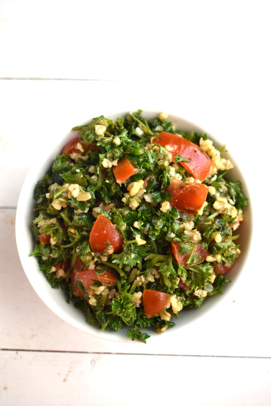 Healthy tabbouleh salad