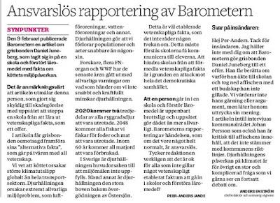 Per-Anders Jandes insändare i Barometern - Rörelse för djurrätt