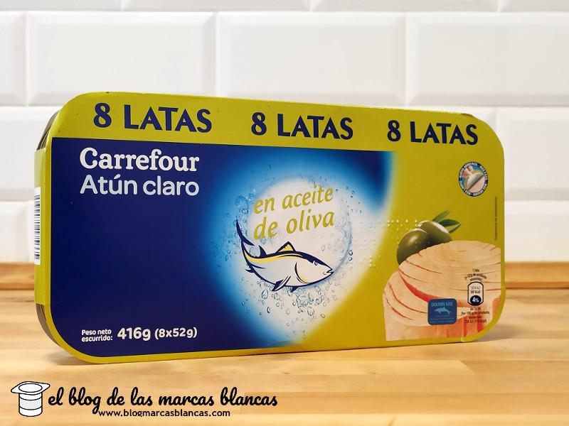 Atún claro en aceite de oliva (pack 8) CARREFOUR en el blog de las marcas blancas.