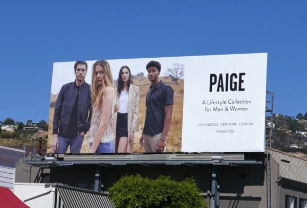Paige Spring 2018 billboard