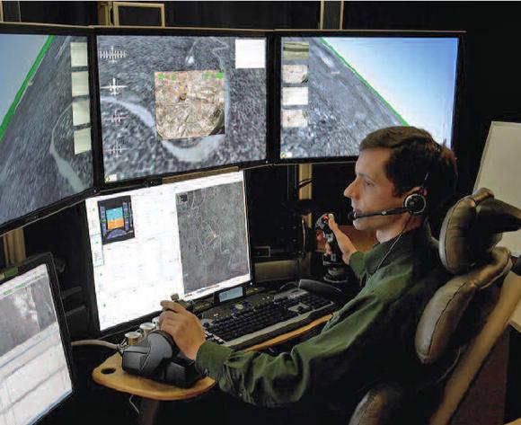 Sala de control de los drones militares