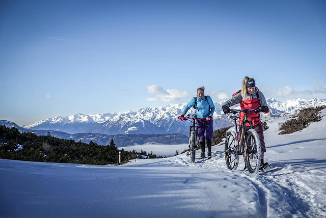 Mountainbike Auffahrt Monte Roen Kaltern