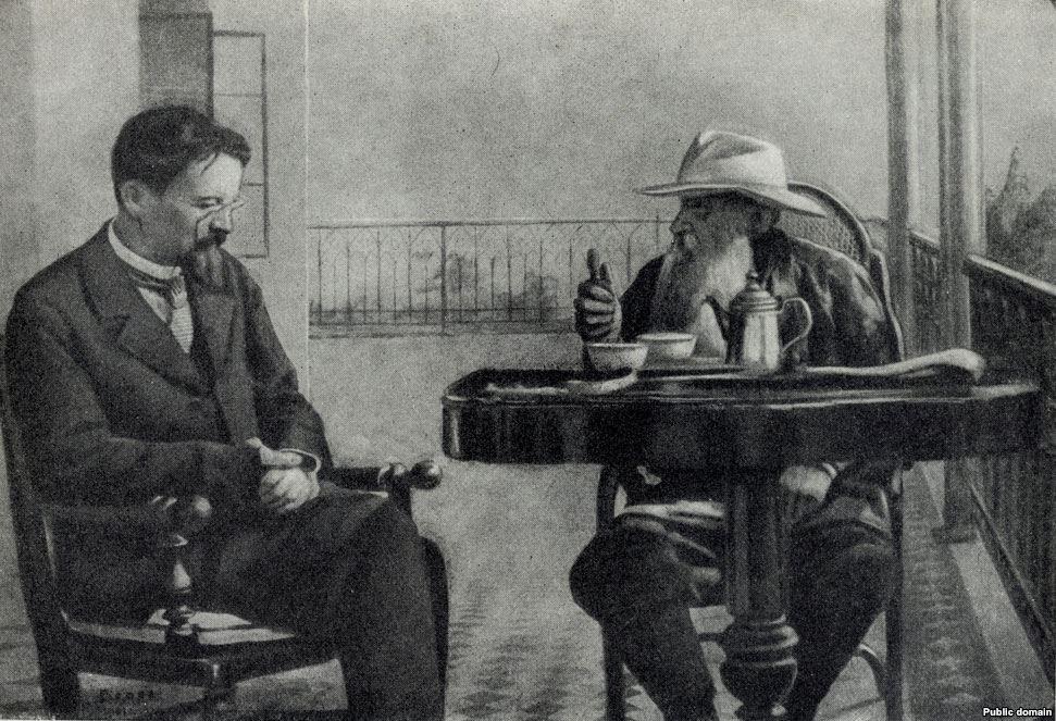 Чехов и Лев Толстой в Гаспре
