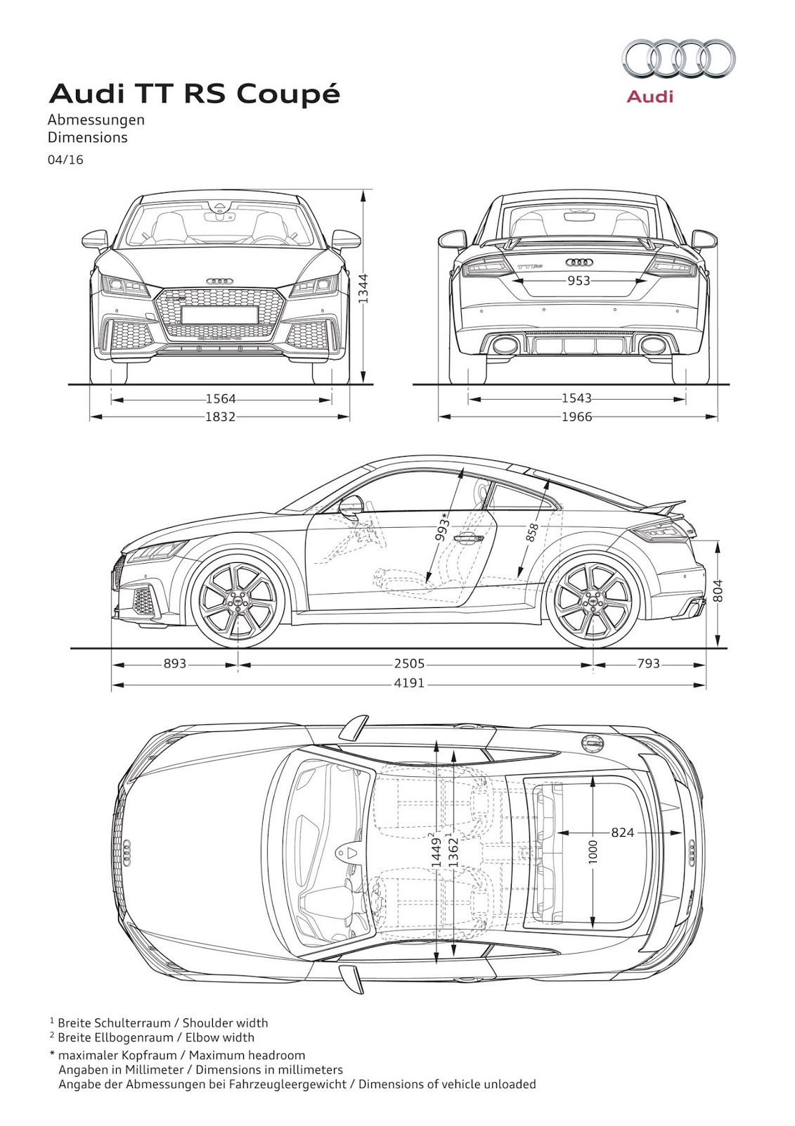 2017 Audi TT RS Roadster & Coupe Bring Five-Cylinders With