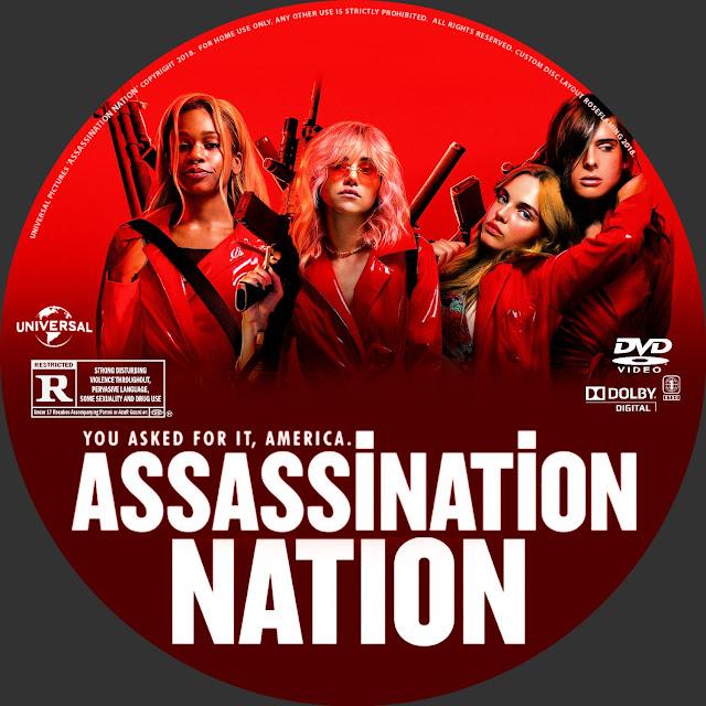 Assassination Nation DVD Label Label Cover