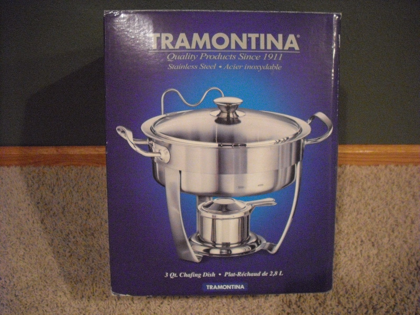 The 3 Quart Round Chafing Dish From Tramontina Has A Clear Tempered Gl Lid And Base Pan 4 75