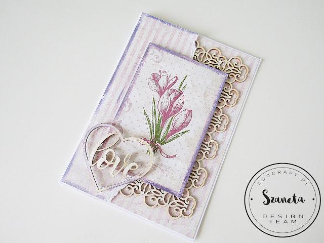 Kartka z tulipanami / Card with tulips