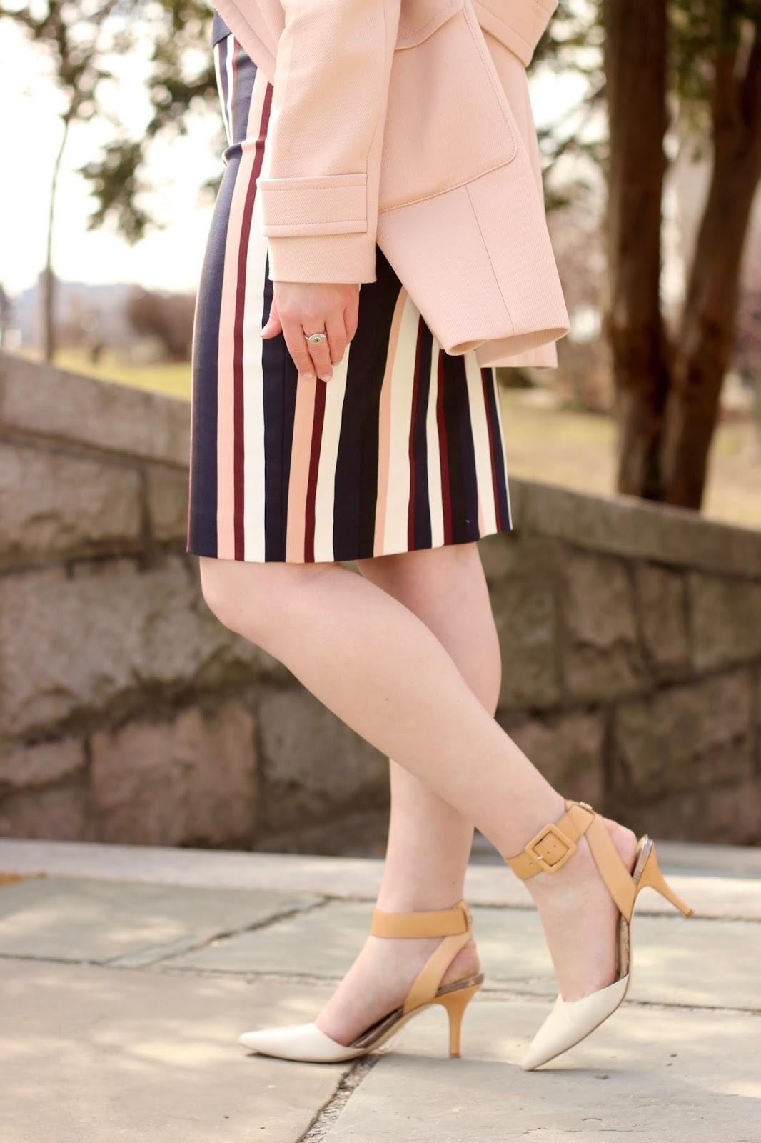 Sam Edelman nude white heels