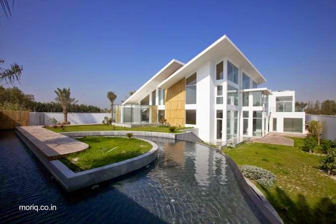 Arquitectura de casas casas modernas de estilo contempor neo for Casas modernas techos inclinados