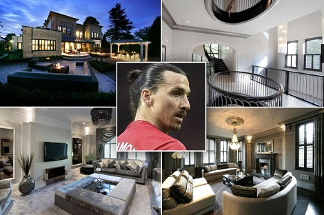 £32k A Month Mansion Zlatan Ibrahimovic's Rented During Manchester United Days Up For Sale