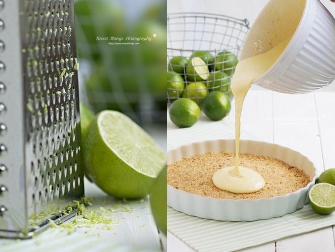 Key Lime Pie: Limettenschale reiben und Limetten Curd machen