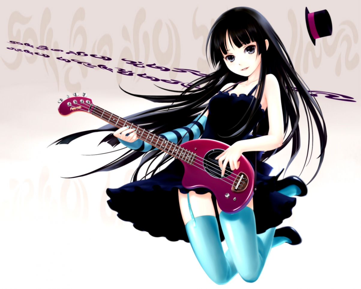 Anime Music Cute Girl Play Guitar Wallpapers Collection