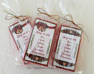 Caixa natalina para chocolate