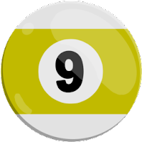 nine of strips pool ball