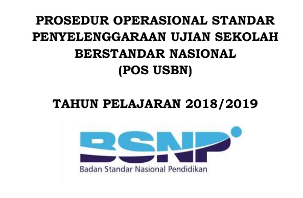Download POS USBN Tahun 2018/2019 Format Pdf