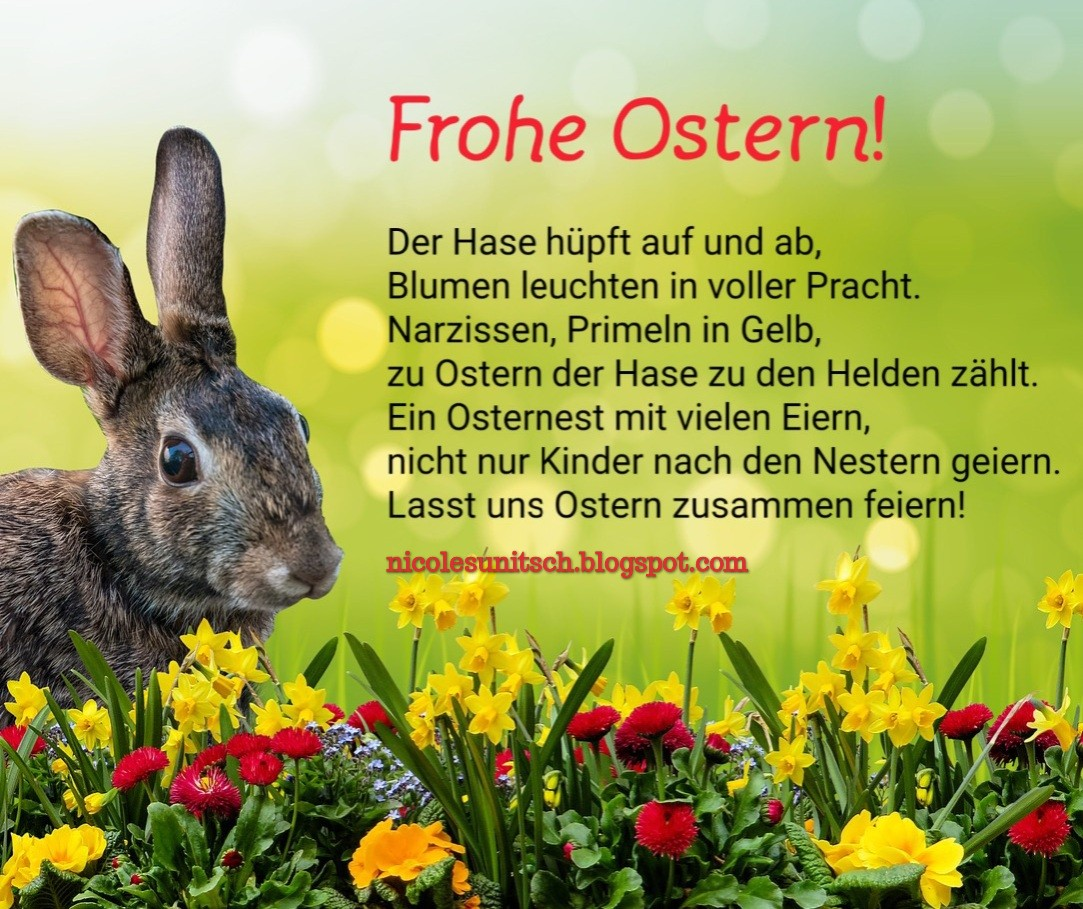 Gedichte Von Nicole Sunitsch Autorin Frohe Ostern
